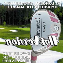 #1 iDRIVE PINK HOT VERSION HYBRID CLUBS GRAPHITE SHAFTED
