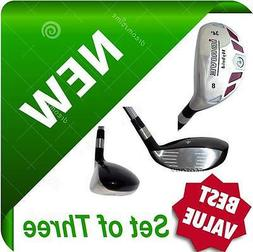 iDRIVE Hybrids Set of 3 Iron Woods RESCUE CLUBS #8 #9 #PW Gr