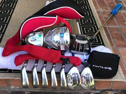 TaylorMade Irons Driver Wood Hybrid Complete Golf Club Set M